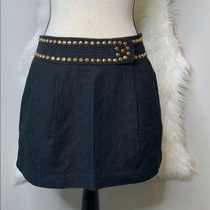 Milly of NY • textured grommet mini skirt